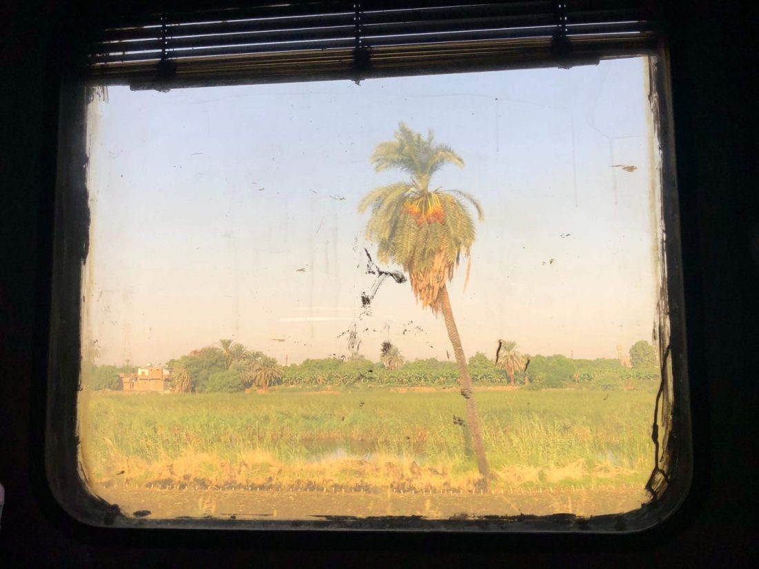 View from sleeper train Egypt