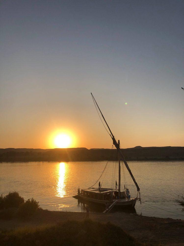 Sunset over Nile Felucca