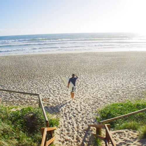 Surfer-at-Nobbys-Beach-Gold-Coast