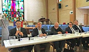 Panelists Kurt Hildebrand, Michael Schneider, Craig McDonald, Sara Smith, and Roger Borgelt