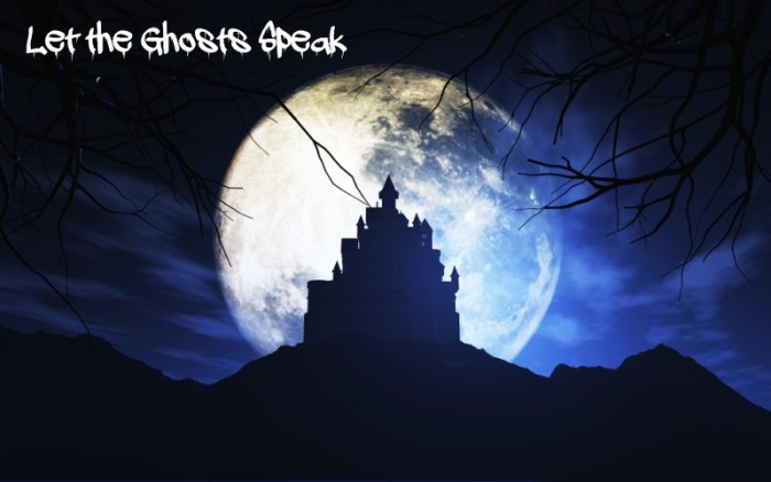 3D render of a Halloween background with a spooky castle against a moonlit sky