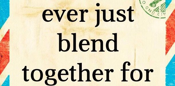 Do the days ever just blend together for you?