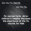 FLU VACCINE FACTS: @akronchildrens hospital discusses the importance of the #flu #vaccine for kids