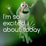 I'm so excited about today