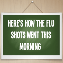 Here's how the flu shots went this morning