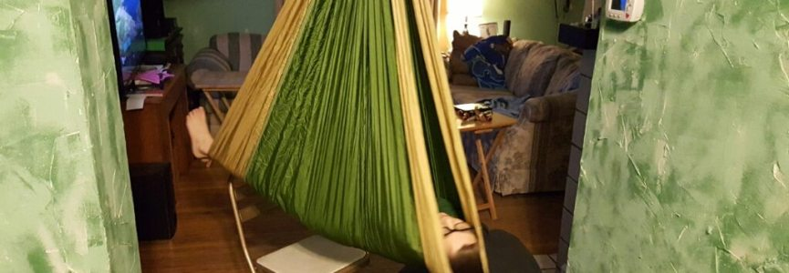 I made my son with #Autism a sensory swing and it's awesome