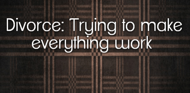 Divorce: Trying to make everything work