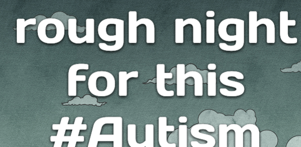 It was a rough night for this #Autism Dad