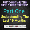 Putting My #Autism Family Back Together: Understanding The Last 19 Months (Part One)