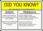 It's really important to understand the difference between a tantrum and an #Autism related #meltdown