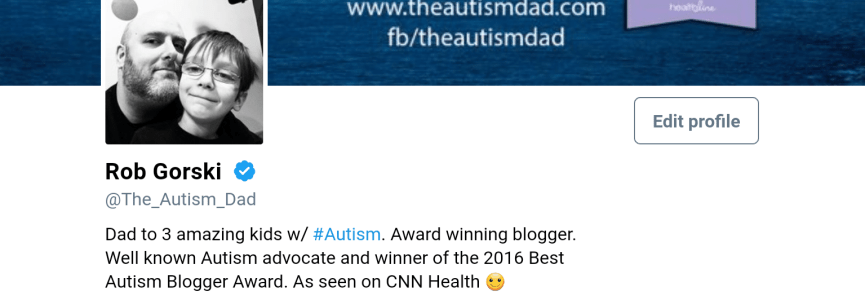 @The_Autism_Dad is officially Verified on Twitter
