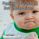 Feeling frustrated but determined