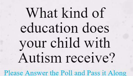 Autism Poll: What kind of education does your child with #Autism receive?