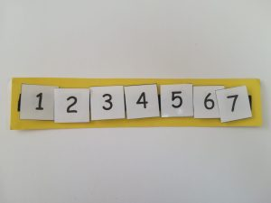 Number schedule Teacch at home