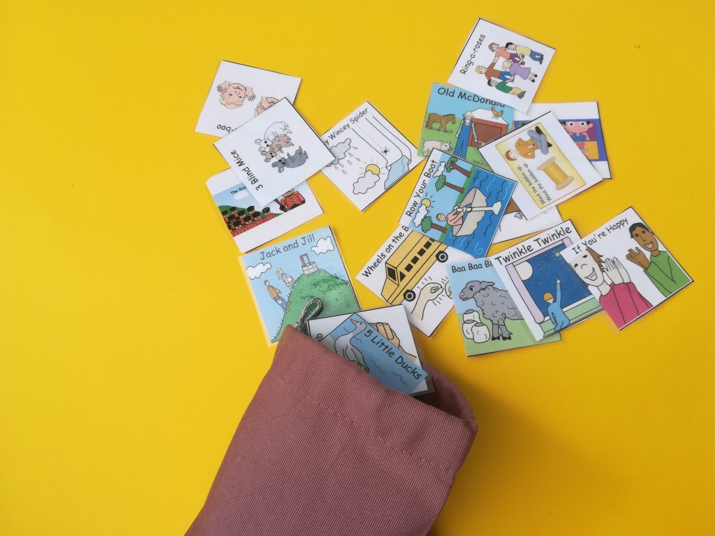 Music and autism, Nursery rhyme choice bag