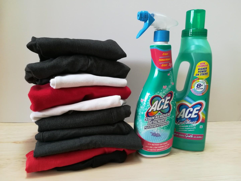 Laundry uniform pile
