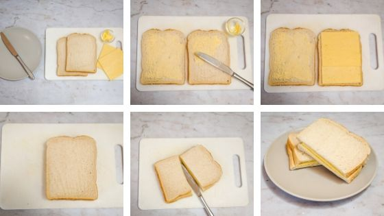 Cheese sandwich visual recipe