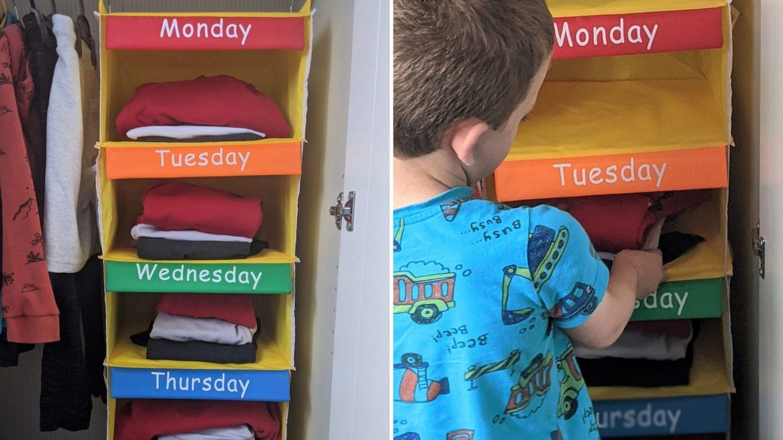 Kids hanging storage