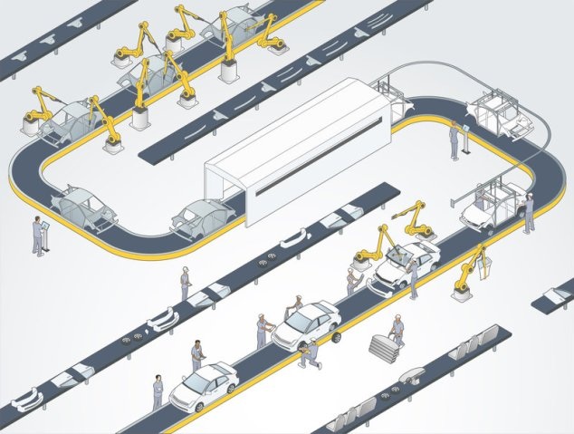 production line illustration 2