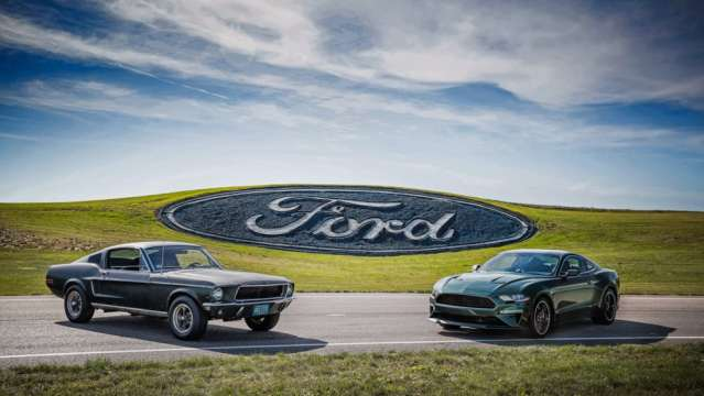 50 years of history -- Original 1968 Bullitt Mustang and 2019 Mustang Bullitt