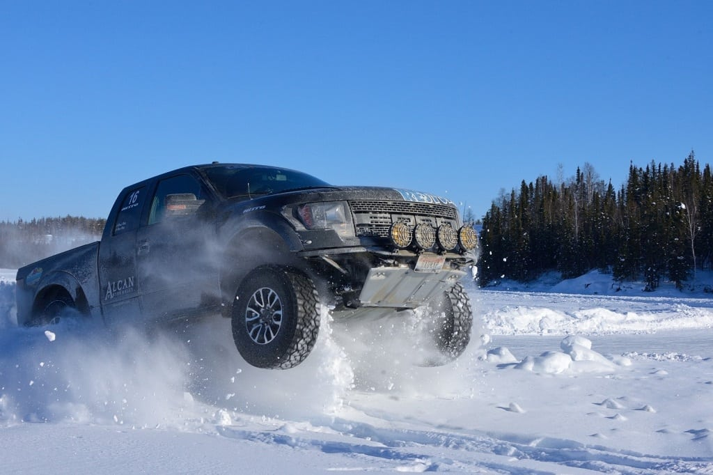 """The Ford Raptors never failed to entertain us along the way. """"Roads, we don't need no stinking roads…"""""""