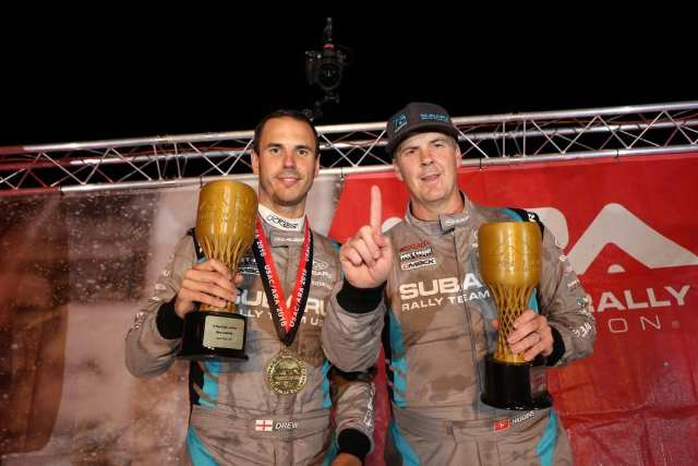 David Higgins and Craig Drew Capture 2018 American Rally Association Championship (PRNewsfoto/Subaru of America, Inc.)