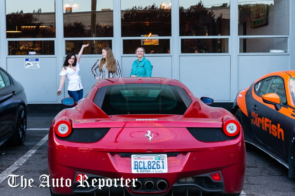 Ladies and Ferrari at Beauty & Key's launch at The Shop - The Auto Reporter