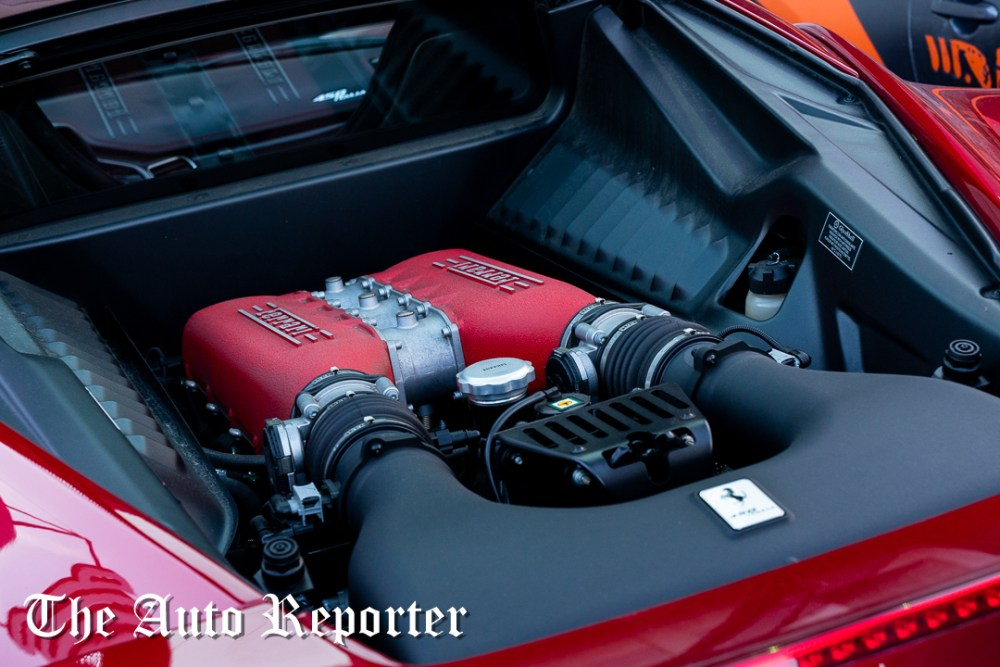 Ferrari engine during the Beauty & Key's launch at The Shop - The Auto Reporter