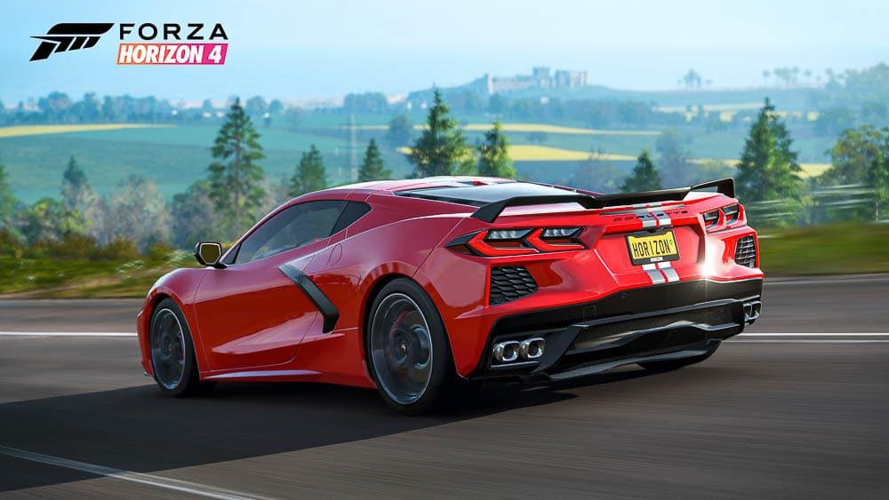 Forza Corvette C8 rear quarter