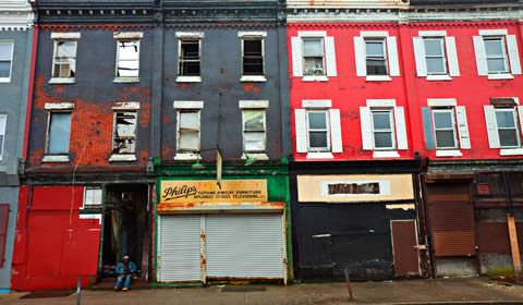 North Philadelphia. From Linh Dinh's blog,