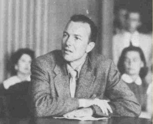 Pete Seeger appears before HUAC in 1955.