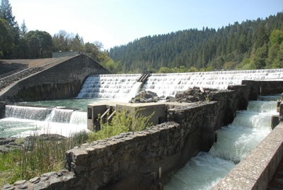 Cape Horn Dam and the Fish Ladder of Van Arsdale Reservoir [photo courtesy pottervalleywater.org]