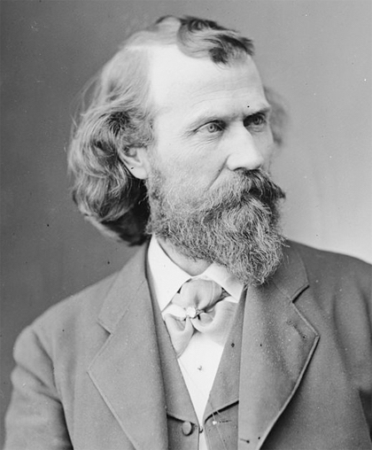 Joaquin Miller, the 'Poet of the Sierras,' as he appeared in the mid-1880s. (Image: Library of Congress)