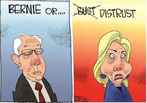 BernieOrDistrust