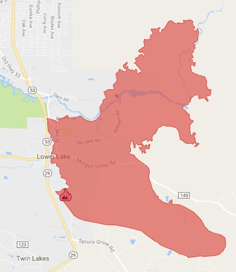 Clayton Fire Map on