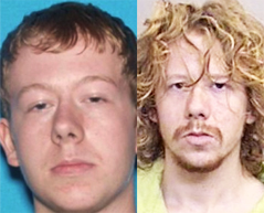 Fitzgerald: Wanted photo (L), and booking photo (R)