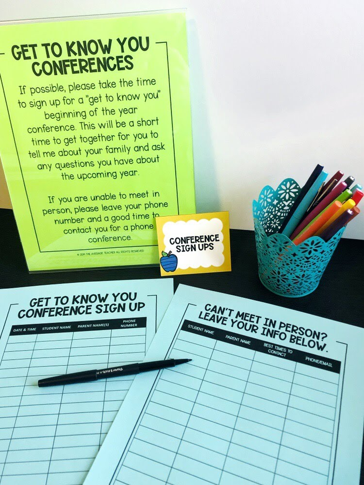 Back to school tips - set up parent conferences
