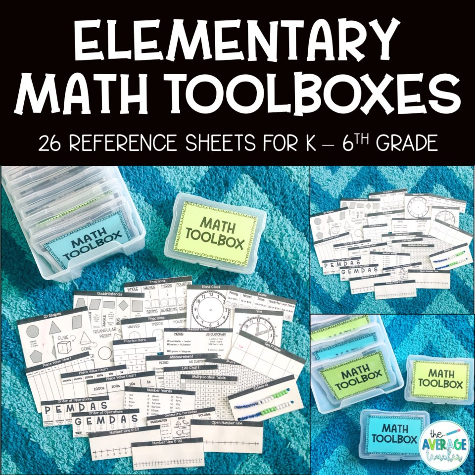 Math toolkits for elementary math!