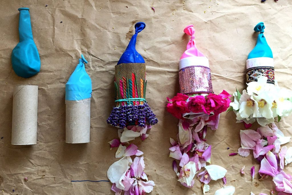 sustainable eco friendly kids crafts flower petal party poppers