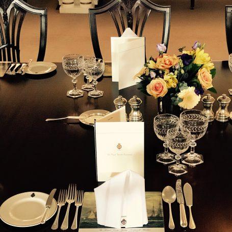Table on the Royal Yacht Britannia