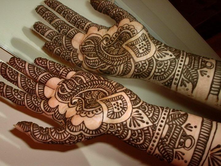 Henna used on hands