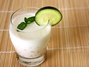 Glass of buttermilk