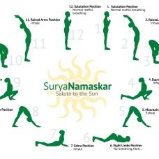 Sunsalutation position asanas name