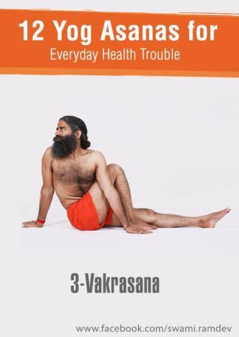 VakrAsana or Twisted Pose