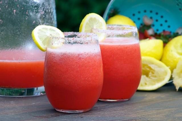 Summer drink Strawberry lemonade