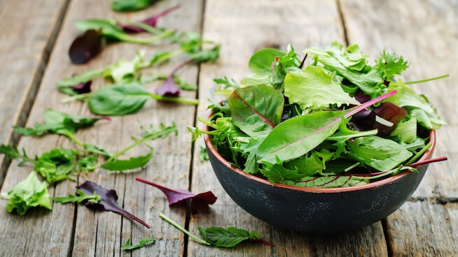 Leafy greens for platelet count