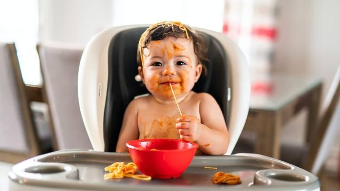 baby enjoying food