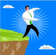 jumping off cliff cartoon