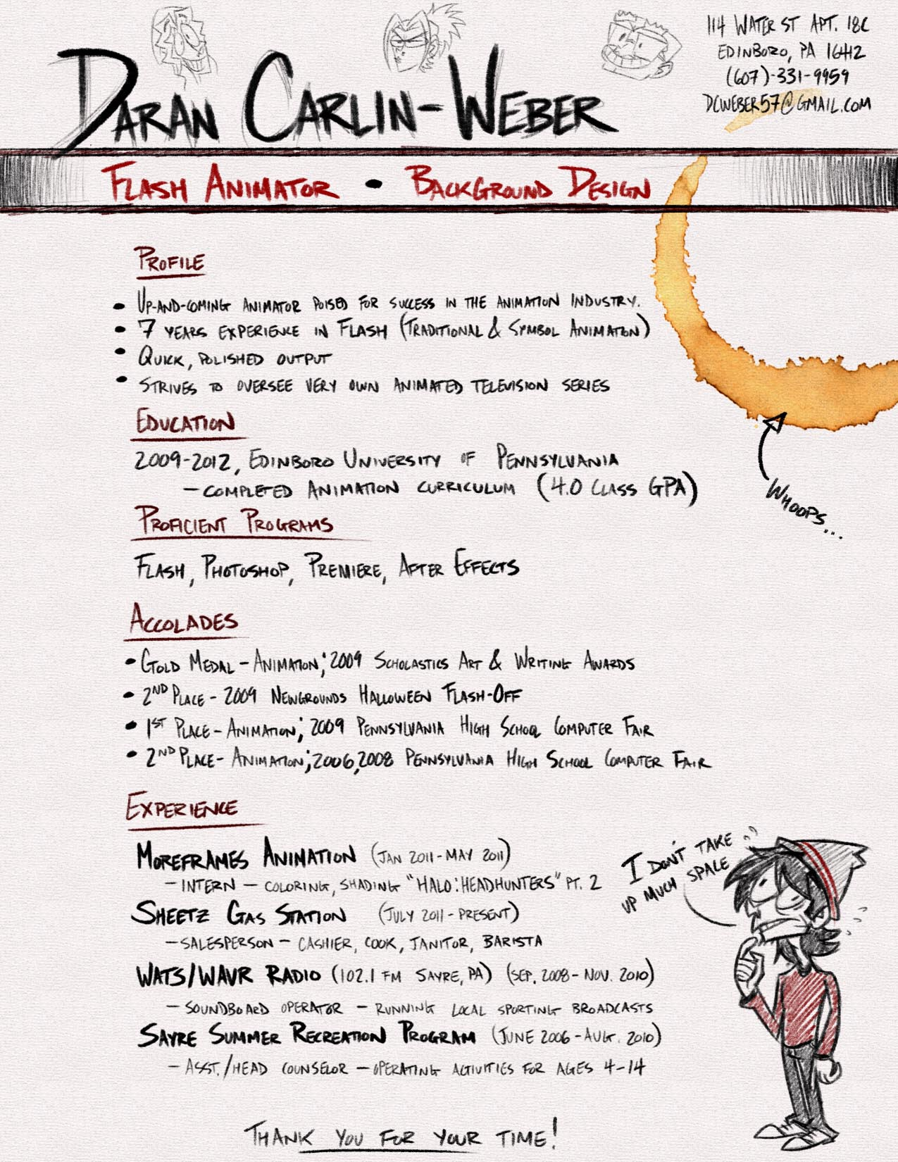 3d Animator Resume Format Sample 1000 Images