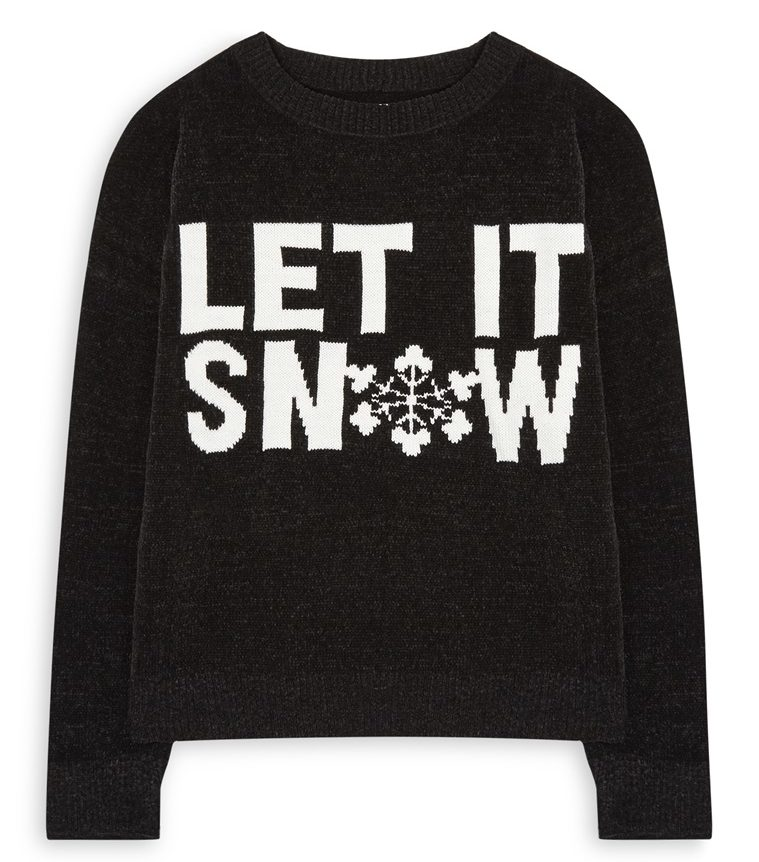 maglione natalizio let it snow